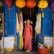 Des lanternes (lampion traditionnelle) de Hoi An un soir de pleine lune